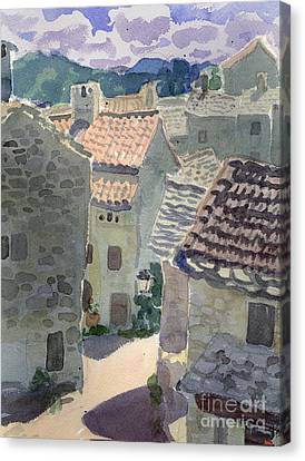 Roofs Of La Couvertoirade Canvas Print