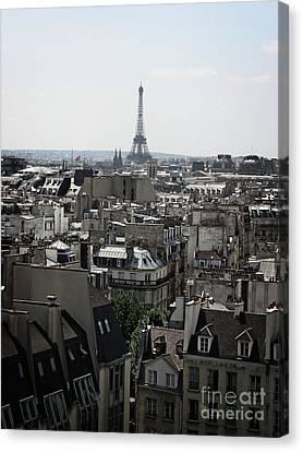 Roofs Of Paris. France Canvas Print by Bernard Jaubert