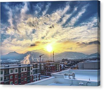 Rooftop In Boulder, Co Canvas Print by David Goudy