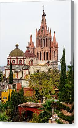 Rooftop View Of La Parroquia De San Miguel Arcangel Canvas Print by Rob Huntley