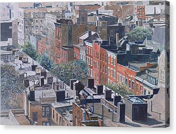 Rooftops Greenwich Village Canvas Print by Anthony Butera
