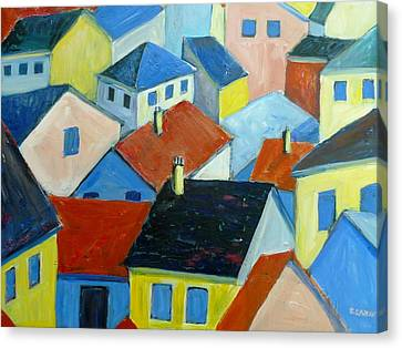 Rooftops In France Canvas Print by Saga Sabin