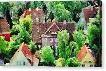 Rooftops Canvas Print by Jeff Kolker