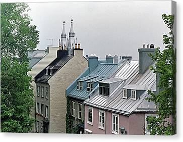 Canvas Print featuring the photograph Rooftops by John Schneider