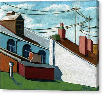 Rooftops Canvas Print by Linda Apple