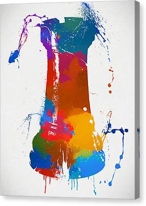 Rook Chess Piece Paint Splatter Canvas Print