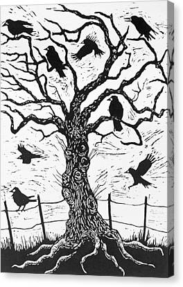 Rook Tree Canvas Print by Nat Morley