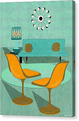 Room For Conversation Canvas Print by Little Bunny Sunshine