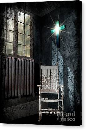 Rocking Chairs Canvas Print - Room For The Cross by Dave Young