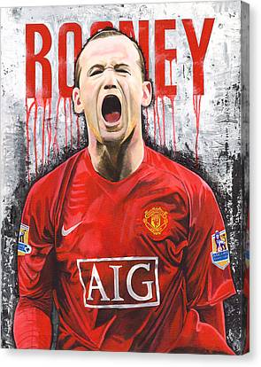Rooney Canvas Print by Jeff Gomez
