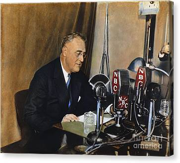 Roosevelt: Fireside Chat Canvas Print by Granger