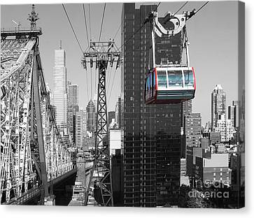 Roosevelt Island Tramway Canvas Print by Millie Reeve