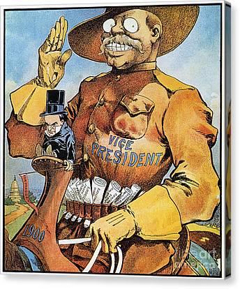 Roosevelt/mckinley Cartoon Canvas Print by Granger
