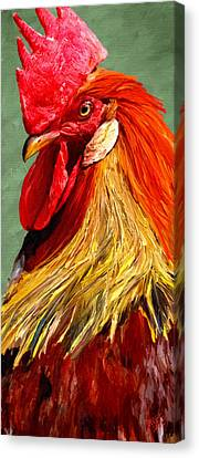 Canvas Print featuring the digital art Rooster 1 by James Shepherd