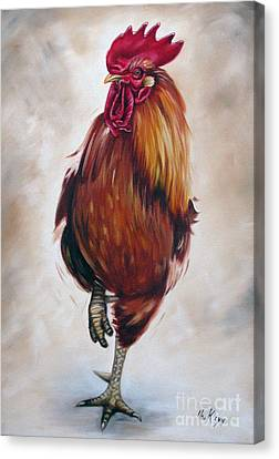 Rooster 17 Of 10 Canvas Print by Ilse Kleyn
