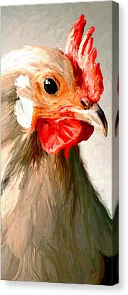 Canvas Print featuring the digital art Rooster 2 by James Shepherd