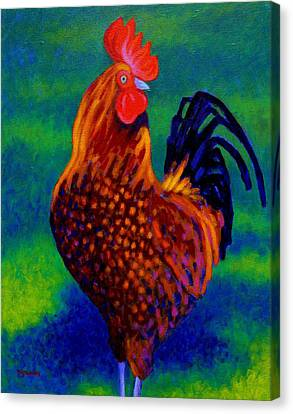 Rooster Canvas Print by John  Nolan