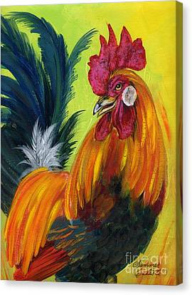 Rooster Kary Canvas Print by Summer Celeste