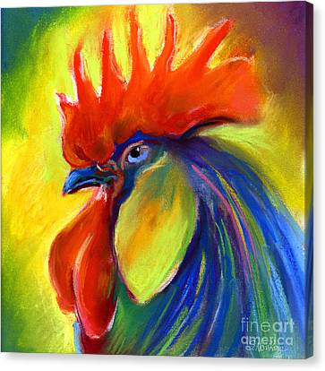 Rooster Painting Canvas Print