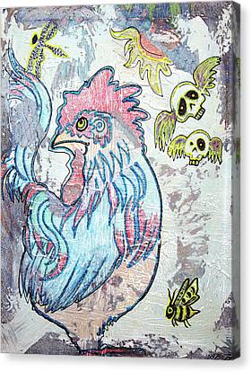 Rooster Road Canvas Print