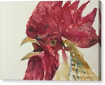 Rooster Canvas Print by Yoshiko Mishina