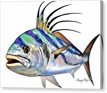Aquatic Canvas Print - Roosterfish Digital by Carey Chen