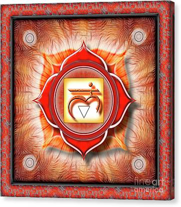 Chakra Therapy Canvas Print - Root Chakra - Series 1 by Dirk Czarnota
