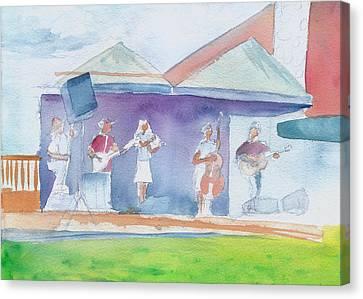 Roots Retreat Bluegrass Canvas Print by David Sockrider
