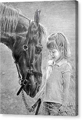 Rooty And Ella Canvas Print by James Foster