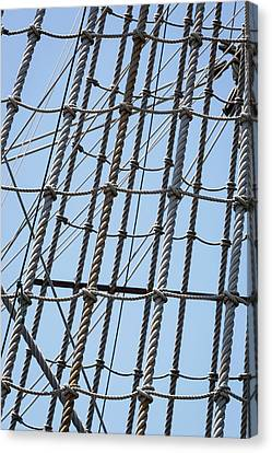 Canvas Print featuring the photograph Rope Ladder by Dale Kincaid