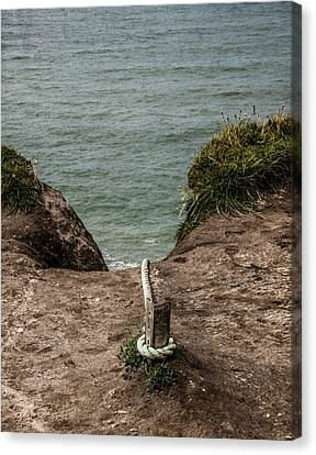 Rope Ladder To The Sea Canvas Print by Odd Jeppesen