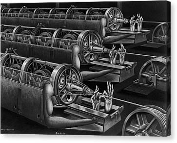 Rope Robots Canvas Print by Boris Artzybasheff