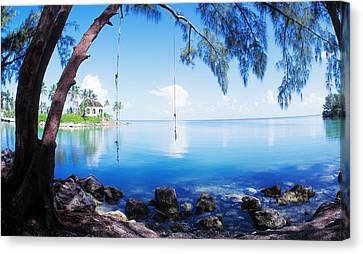 Rope Swing Over Water Florida Keys Canvas Print