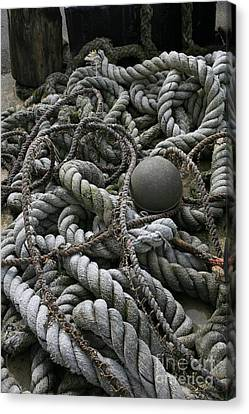 Ropes And Lines Canvas Print by Timothy Johnson