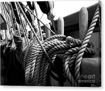Ropes At The Ready Canvas Print by Lexa Harpell