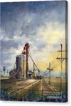 Ropes Grain Canvas Print by Tim Oliver