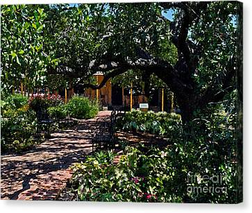 Canvas Print featuring the photograph Roque House Gardens by Ken Frischkorn
