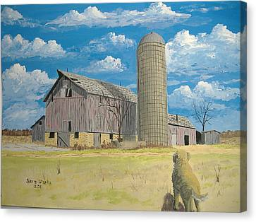 Canvas Print featuring the painting Rorabeck Barn by Norm Starks