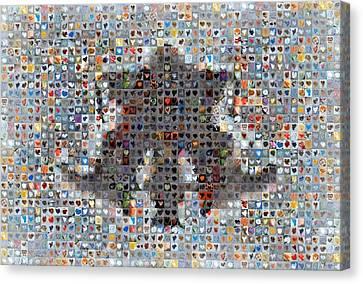 Rorschach Inkblot Card Four Canvas Print by Boy Sees Hearts