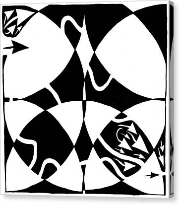 Rorschach Maze Canvas Print by Yonatan Frimer Maze Artist