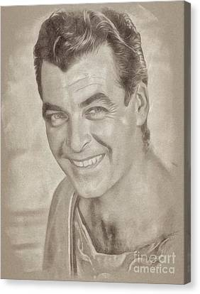 Rory Calhoun Vintage Hollywood Actor Canvas Print by John Springfield