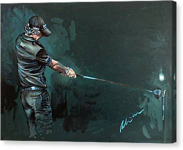 Rory Mcilroy Trick Shot 2010 Canvas Print by Mark Robinson