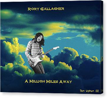 Canvas Print featuring the photograph Rory Million Miles Away by Ben Upham