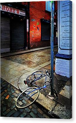 Canvas Print featuring the photograph Rory's Fishing Tackle Bicycle by Craig J Satterlee