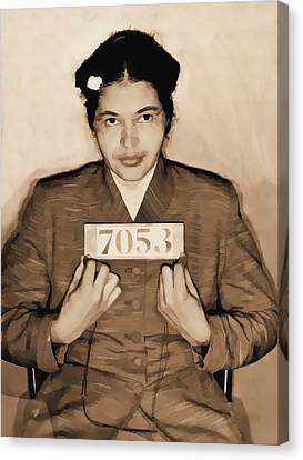 Rosa Parks Mugshot Canvas Print by Dan Sproul