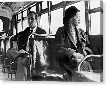 Rosa Parks On The Bus Canvas Print