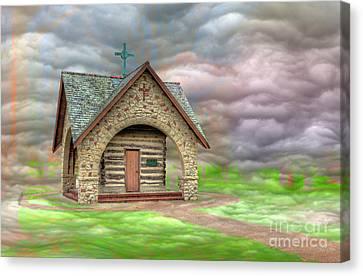 Log Cabins Canvas Print - Rosati's Cabin by Larry Braun