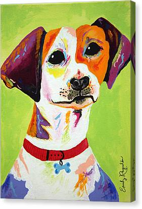 Roscoe The Jack Russell Terrier Canvas Print by Emily Reynolds Thompson