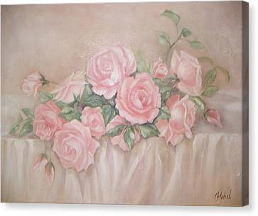 Rose Abundance Painting Canvas Print