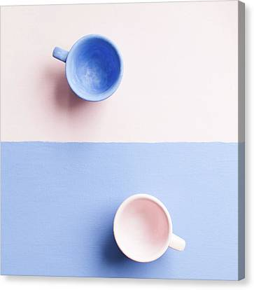 Blue Blocks Canvas Print - Rose And Serenity IIi by Andrey A